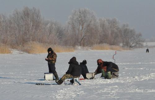 рыбалка в деревне осенка